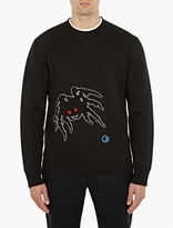 Lanvin Black Textured Spider Sweatshirt
