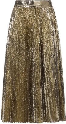 Dolce & Gabbana Sequin Pleated Skirt