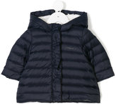 Armani Junior faux shearling lined coat