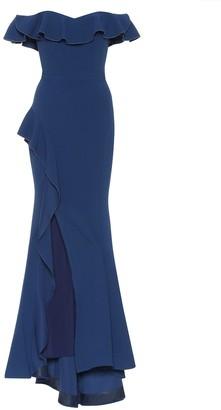 Rebecca Vallance Aegean off-the-shoulder dress