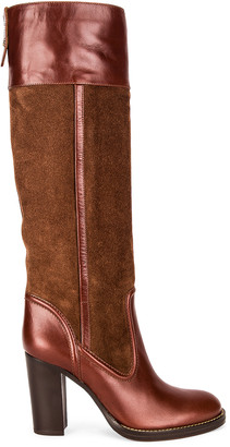 Chloé Emma Tall Boots in Roasted Brown   FWRD