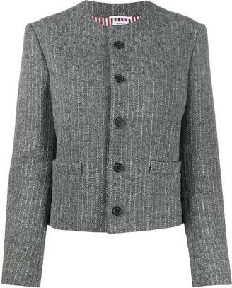 Thom Browne Knitted Pinstripe Blazer