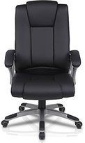 Furinno WA-7480P Hid Up Fabric High Back PU Leather Executive Chair, Black