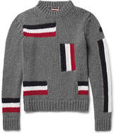 Moncler Intarsia Virgin Wool Sweater