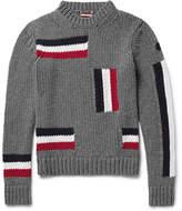 Moncler Intarsia Virgin Wool Sweater