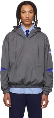 ADER error Grey Stone Logo Hoodie Jacket