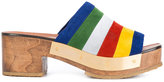 Rosetta Getty stripe clog mules