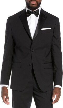 Nordstrom Trim Fit Stretch Wool Dinner Jacket