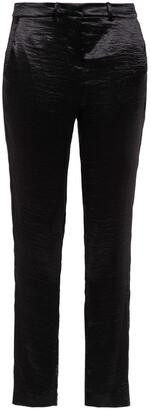 BA&SH Crinkled-satin Slim-leg Pants