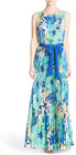 Eliza J-eliza j pleat floral chiffon maxi dress
