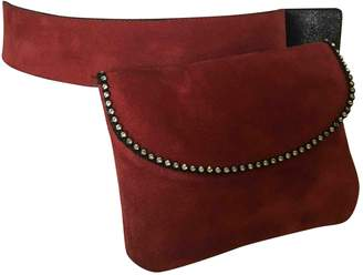 Sonia Rykiel Red Suede Clutch bags