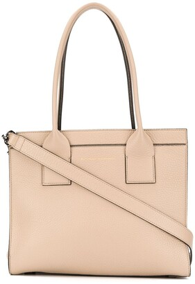 Brunello Cucinelli Logo Embossed Pebbled Leather Tote