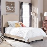 Baxton Studio Benjamin Contemporary Beige Fabric Upholstered Twin Size Bed