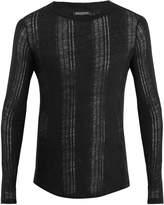 Balmain Distressed linen sweater