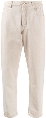 Brunello Cucinelli Low Rise Tapered Leg Jeans