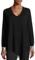 Joie Tambrel Lace-Back Asymmetric Sweater, Black