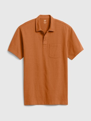 Gap Easy Heavyweight Pocket Polo Shirt Shirt