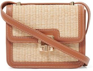 Forever New Freya Panelled Crossbody Bag - Tan/Straw - 00