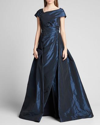 Rickie Freeman For Teri Jon One-Shoulder Jewel Embellished Taffeta Ball Gown