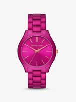 Michael Kors Slim Runway Pink Coated Watch