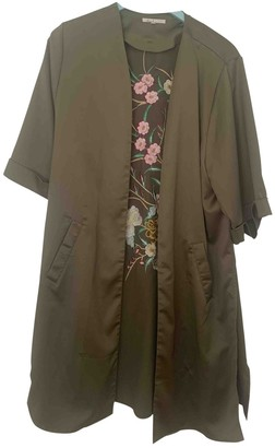 Anthropologie Green Polyester Jackets