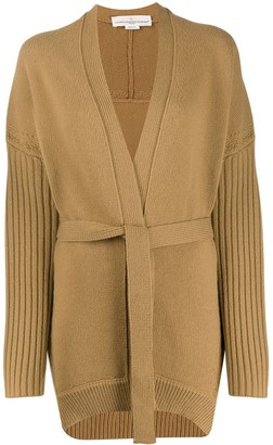 Golden Goose Textured-Knit Belted Cardigan