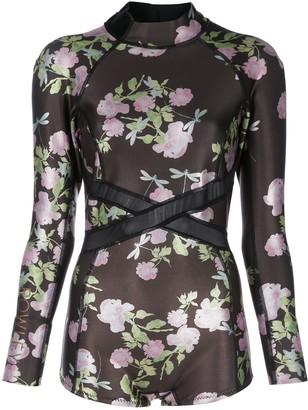 Cynthia Rowley Metallic Rose Wetsuit