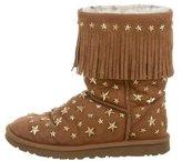 UGG Embellished Fringe-Trimmed Boots