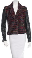 Torn By Ronny Kobo Leather-Accented Tweed Jacket