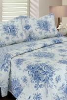 Melange Home Toile Cotton Reversible Quilt - Navy