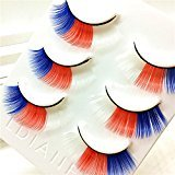 Bibite 3 Pair Luxury 3D False Lashes Fluffy Strip Eyelashes Long Natural Party (Colorful)