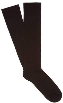 Rick Owens Cotton Blend High Socks - Mens - Black