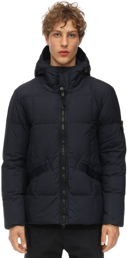 Stone Island HOODED NYLON PUFFER JACKET