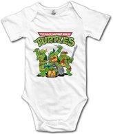 Kra8er Kids Teenage Mutant Ninja Turtles Baby Bodysuits Onesies Unisex Boys Girls 100% Cotton 6 M