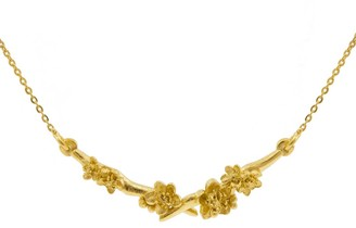 Lee Renee Cherry Blossom Branch Necklace Gold