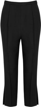 KHAITE Bridget Black Straight-leg Trousers