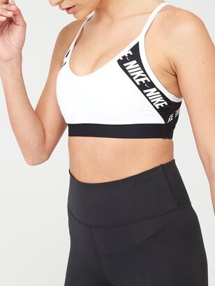Nike Light Support Indy Logo Sports Bra - White