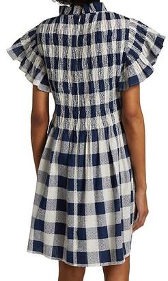 Sea Morgan Plaid Smocked Dress