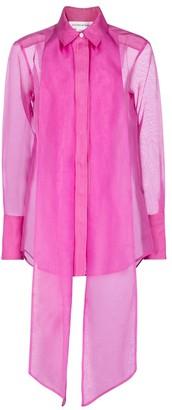 Victoria Beckham Tie-neck silk organza shirt