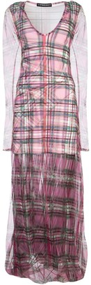 Y/Project Y / Project Sheer Layered Tartan Dress