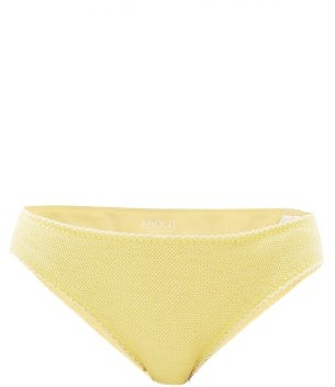About - Dovana Soy-protein Blend Pique Briefs - Yellow