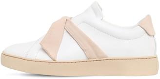 Alexandre Birman 30mm Clarita Leather & Suede Sneakers