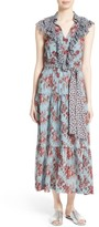 Robert Rodriguez Women's Ruffle Print Silk Dress