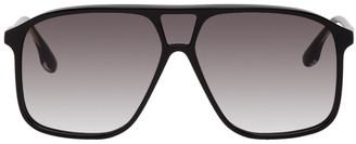 Victoria Beckham Black Flap Top Aviator Sunglasses
