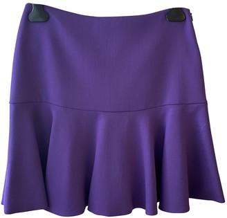 Moschino Purple Wool Skirt for Women
