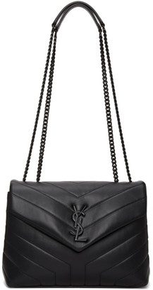 Saint Laurent Black Small Loulou Monogram Bag