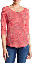 Lucky Brand Embroidered Ballet Neck Tee