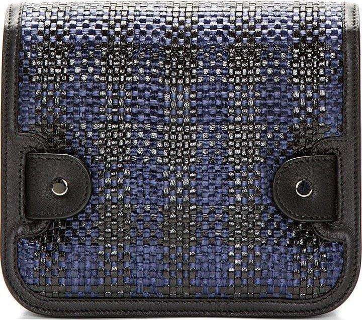 Proenza Schouler Navy & Black PS11 Tiny Box Check Shoulder Bag