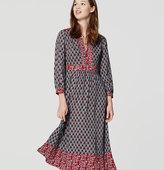 LOFT Autumn Bloom Midi Dress