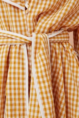 Keepsake SHALLOWS LONG SLEEVE MINI DRESS marigold check